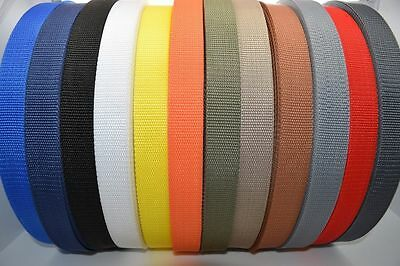£1.30 • Buy Polypropylene Webbing Strap/Tape 20mm,30mm,40mm,50mm Choice Of Colours