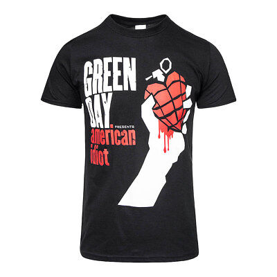 £14.34 • Buy Official T Shirt GREEN DAY Black AMERICAN IDIOT Print Band Tee All Sizes