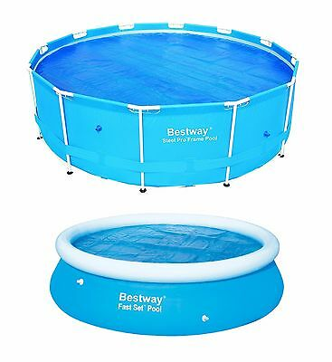 £12.99 • Buy Bestway SOLAR COVER SWIMMING POOL 8FT 10FT 12FT HEATS THE WATER KEEPS DEBRIS OUT