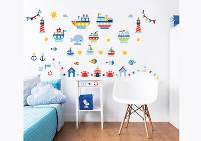 Nautical Wall Stickers For Kids Bedrooms Walltastic     • 14.99£