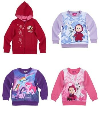 Girls Sweatshirt Masha And The Bear My Little Pony Hoodie New Licensed • 9.99£