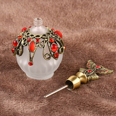 1Pc Vintage Glass Crystal Bottles Antique Empty Refillable Perfume Bottle Gifts • 7.70£