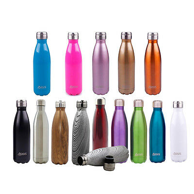 AU29.95 • Buy NEW OASIS DRINK BOTTLE 750ml Double Wall Insulated Thermo Hot & Cold 14 COLOURS