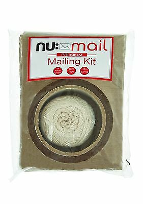 $6.24 • Buy Nu Mail Mailing Kit - String Ball, Parcel Tape & Brown Paper