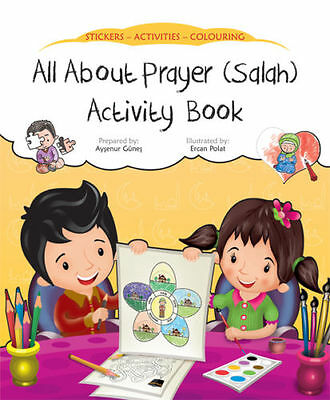 All About Prayer (Salah) Activity Book (Stickers Colouring Childrens) • 2.99£
