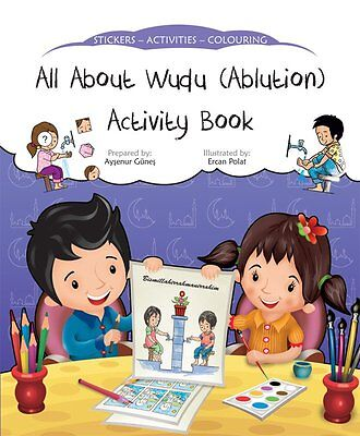 All About Wudu (Alution) Activity Book (Stickers Colouring Childrens) • 2.99£
