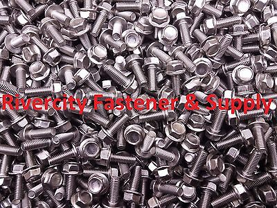 $5.75 • Buy (5) M6-1.0 X 16 / M6x16 Hex Flange Bolts DIN 6921 6mm X 16mm Stainless Steel
