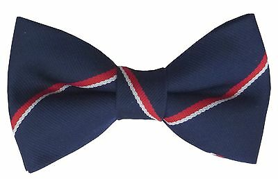 £14.99 • Buy Royal Navy Pre Tied Striped Bow Tie Made In GB