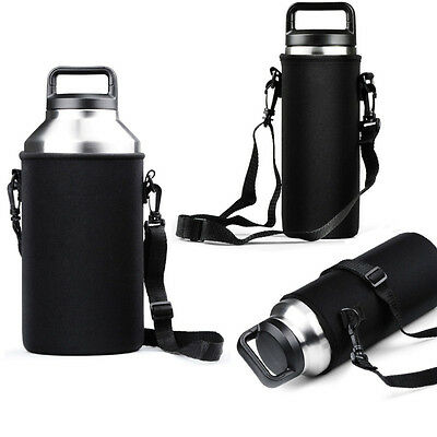 AU6.73 • Buy Sleeve Carrying Bag For 36oz 64oz Yeti Ramblers Bottle Cup Black With Handle Hot
