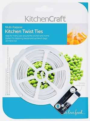 Twist Ties - Fastener Dispenser Cutter Kitchen Sandwich Bags Home Freezer Bag • 4.99£