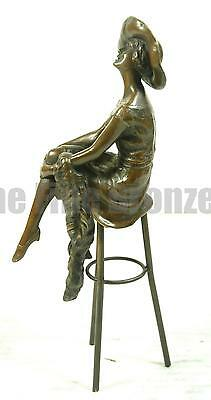 £109.07 • Buy Signed: D.H.Chiparus, Bronze Girl On Stool Statue At The Bar