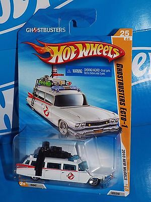 £10.79 • Buy Hot Wheels 2010 New Models #25 Ghostbusters ECTO-1 White Cadillac