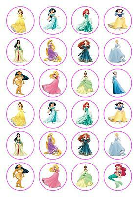 £2.65 • Buy 24 Disney Princess Cupcake Fairy Cake Toppers Edible Rice Wafer Paper Decoration