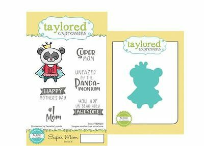 Taylored Expressions Stamp & Die Combo Set ~ SUPER MOM  - Mother's Day  ~TEPS214 • 18.89$