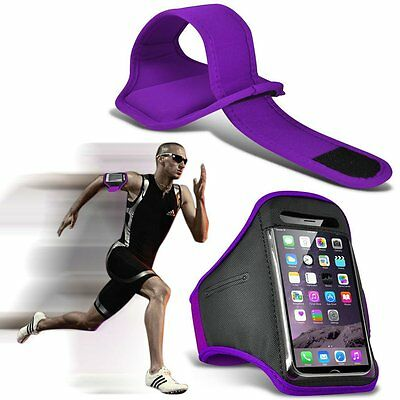 Quality Sports Armband Gym Running Workout Belt Strap Phone Case Cover✔PURPLE • 4.95£