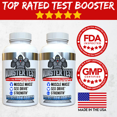 View Details Testosterone Booster Monster Test For Men More Muscle Mass 6,000+ MG, - 2 Pack • 17.65$