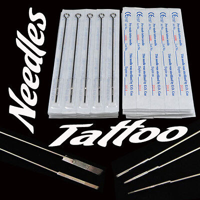 $ CDN9.36 • Buy 50pcs Sterile Tattoo Needles Steel Round Liner Shader Varied 33 Sizes Supplies W
