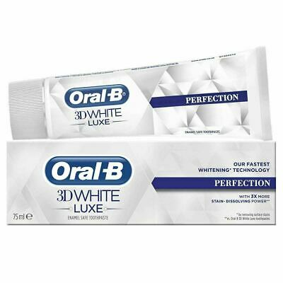 View Details Oral-B 3D White Luxe Perfection Mint Toothpaste Whitening Enamel Protect - 75ml • 6.06£