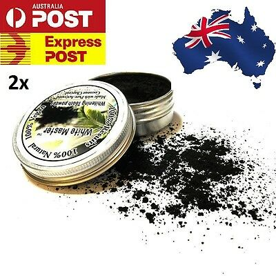 AU21.95 • Buy 2 X Activated Charcoal Teeth Whitening Organic Coconut Shell Powder Coco