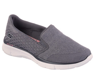 NEW SKECHERS Women Sneakers Slipper Memory Foam EQUALIZER SAY SOMETHING Charcoal • 33.99£