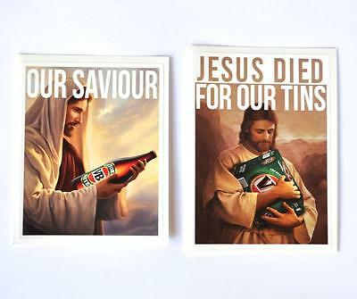 AU7.50 • Buy Sticker 2 Pack Jesus Died For Our Tins & Our Saviour Vb Victoria Bitter Bumper