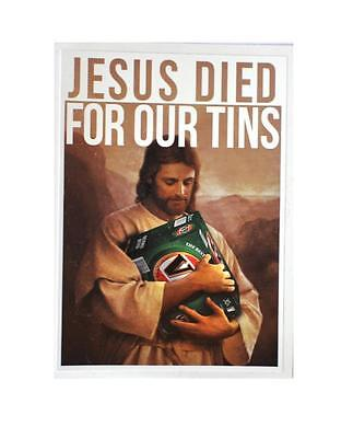 AU3.99 • Buy Sticker Vb Victoria Bitter Jesus Died For Our Tins Beer Bumper Free Post