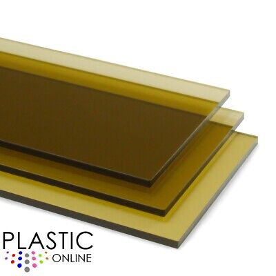 £3.65 • Buy Brown Tint Perspex Acrylic Sheet Colour Plastic Panel Material Cut To Size
