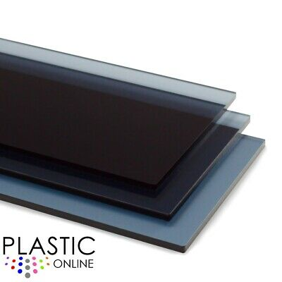 £0.99 • Buy Mid Grey Tint Perspex Acrylic Sheet Colour Plastic Panel Material Cut To Size