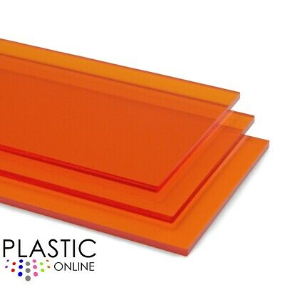£4.75 • Buy Amber Orange Tint Perspex Acrylic Sheet Plastic Panel Material Cut To Size