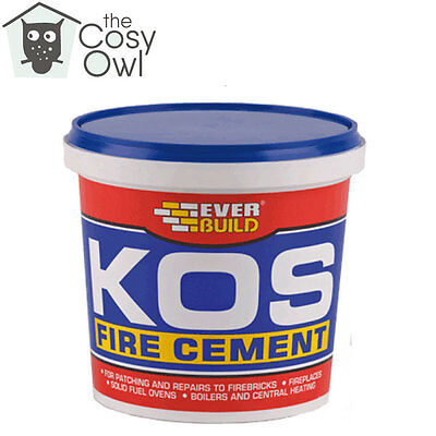 Everbuild KOS Black Fire Furnace Pipe Cement High Temperature For Stoves 1KG • 7.56£