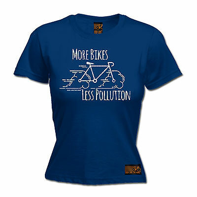 $ CDN15.27 • Buy More Bikes Less Pollution WOMENS RLTW T-SHIRT Tee Cyclist Bicycle Birthday Gift