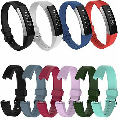 $ CDN1.71 • Buy Sport Strap Silicone Watch Band Metal Buckle For Fitbit Alta HR Activity Tracker