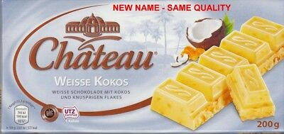 $ CDN13.19 • Buy Chateau - 200 Gram White Cocos And Flakes Chocolate - (2) Two Bars For You