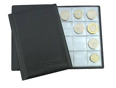 Collector COIN ALBUM For 96 Coins A-Z 10p Pence 50p £1 £2 €2 Folder Book BLUE N1 • 4.79£