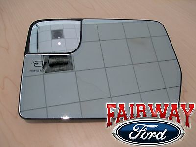 $285.95 • Buy 11 Thru 14 F-150 OEM Ford LEFT DRIVER Heated Mirror Glass Only For Power Fold