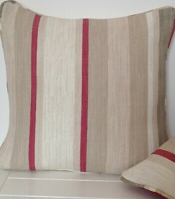 £12.99 • Buy Cushion Cover Laura Ashley Awning Stripe   Raspberry 16  Piped