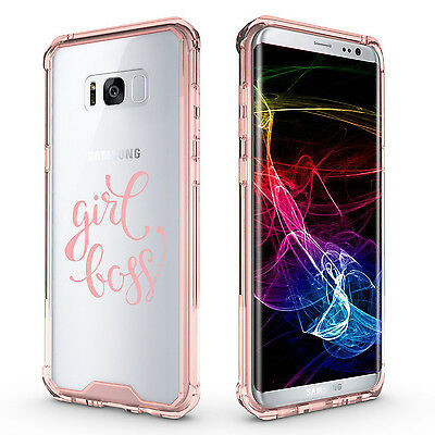 $ CDN20.10 • Buy For Samsung Galaxy S7 Edge S8 S9 + Clear Shockproof Bumper Case Cover Girl Boss
