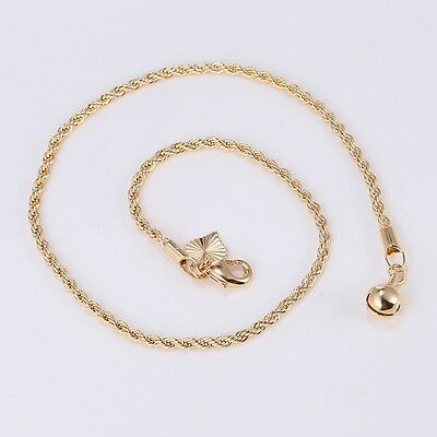 £6.99 • Buy 9K 9ct Yellow  Gold FILLED  Ladies Heart & Bell  ANKLE CHAIN ANKLET. 10.6  Gift