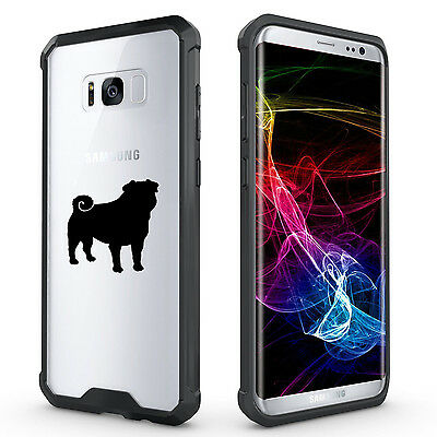 $ CDN20.10 • Buy For Samsung Galaxy S7 Edge S8 S9 + Clear Shockproof Bumper Case Cover Pug Dog