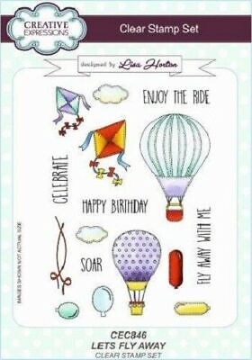 £8.50 • Buy Creative Expressions Let's Fly Away A5 Clear Stamp Set CEC846