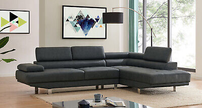 AU769.99 • Buy 2.8m Modern Black Corner Fabric Sectional Sofa Chaise Lounge Suite Couch
