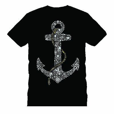 £5.99 • Buy ANCHOR Pirates 2 BONES Funny T-shirt TEE  Father's Day Birthday Gift Dtg