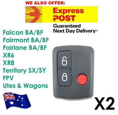 AU12.70 • Buy Ford Remote Control BA/BF Falcon Territory SX/SY/Ute/Wagon 02-10 3 Button