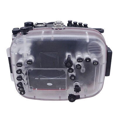 Mcoplus 60m/190ft Waterproof Underwater Camera Housing Diving Case Bag For Canon • 426£