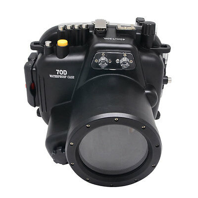 Mcoplus 40M Waterproof Underwater Camera Housing Case For Canon EOS 70D 18-135mm • 237.62£