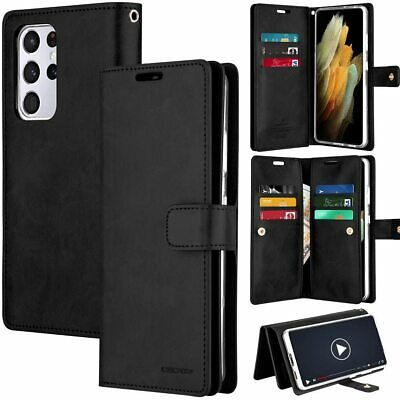 AU14.99 • Buy Fit S8 S8 Plus Goospery Mansoor Leather Gel Wallet Flip 9 Card Slot Case Cover