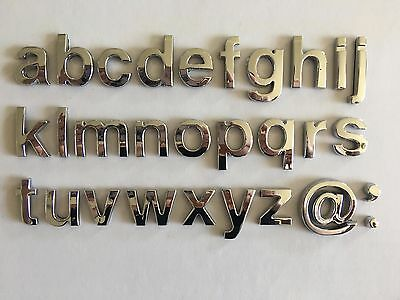 £1.49 • Buy Chrome 3D Self-adhesive Website Letter Car Boot Door Sticker Auto Lower Case