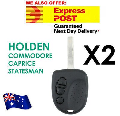AU9.70 • Buy FOR 2 X Holden Commodore 3 Button Car Remote Case Uncut Key VS VX VY VZ WH WK WL