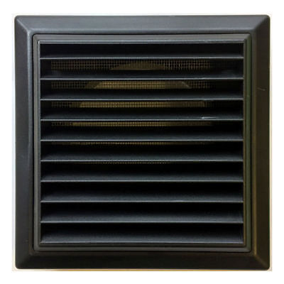 External Ventilation Grille Cover Outlet For Extractor Fan 100 Mm / 4 Inch Black • 6.95£