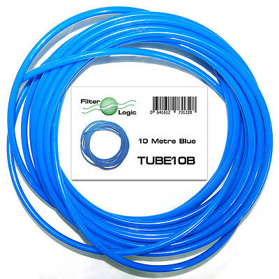 """£4.99 • Buy 10 Metres 1/4"""" 6.4mm OD LDPE Tubing Pipe For RO Systems & Fridge Water Filters"""